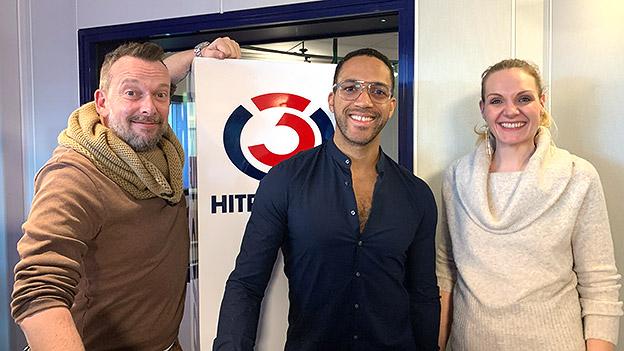 Cesar Sampson mit Robert Kratky und Lisa Hotwagner