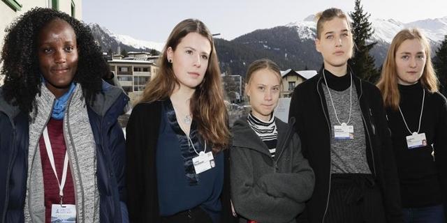 Klimaaktivistinnen in Davos