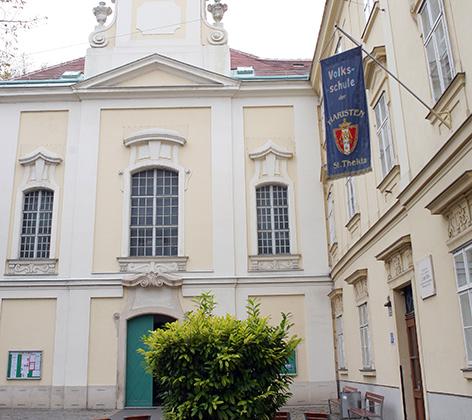 """Die Wiener Privatvolksschule der Piaristen """"St. Thekla"""" in Wien-Wieden"""
