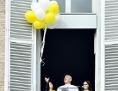 Angelusgebet Ballons steigen lassen