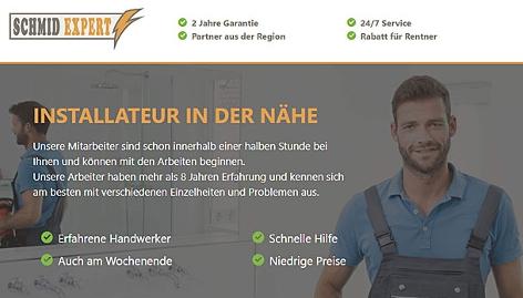 Screenshot Webseite Installateur