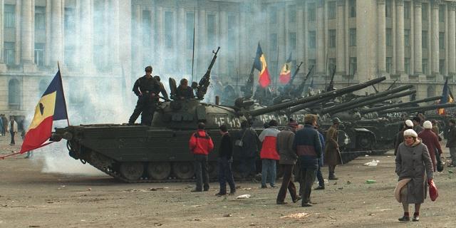 Panzer in der rumänischen Revolution