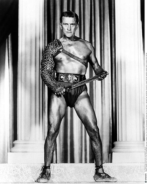 Kirk Douglas in seiner Rolle als Spartacus