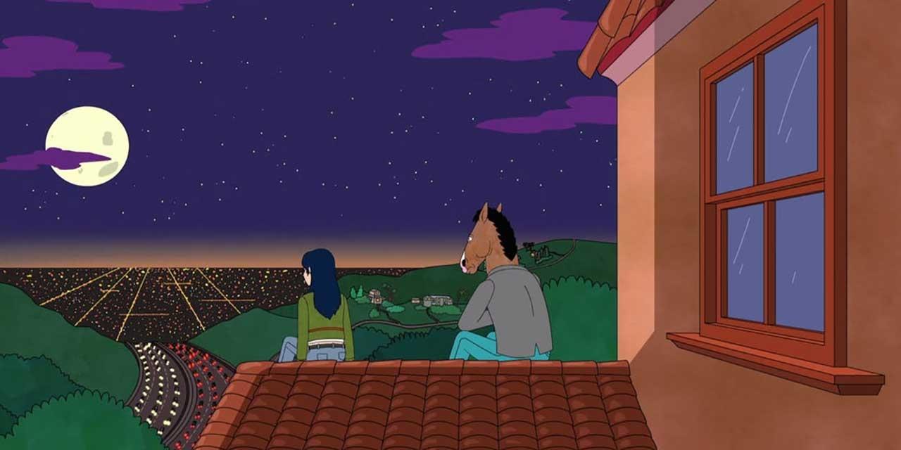 BoJack und Diane auf Dach