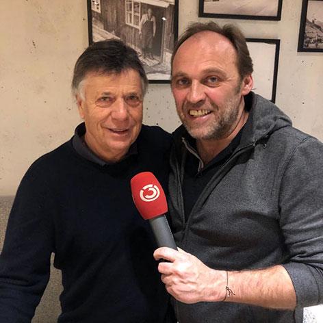 ÖSV-Präsident Peter Schröcksnadel im Interview mit Ö3-Reporter Adi Niederkorn