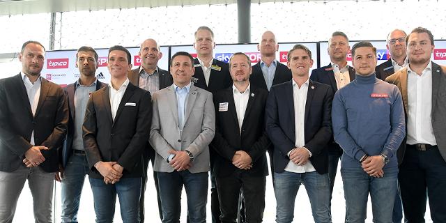 Gruppenfoto Präsentation zum Saisonauftakt der Österreichischen Bundesliga