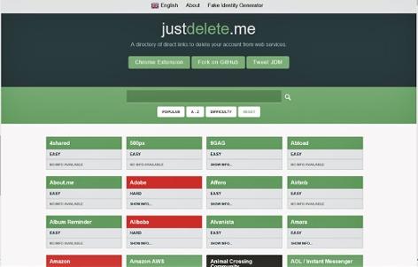 Homepage Just Delete Me