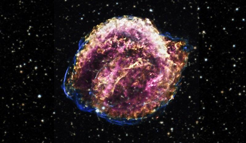 Teleskopaufnahme einer Supernova (Sternenexplosion)