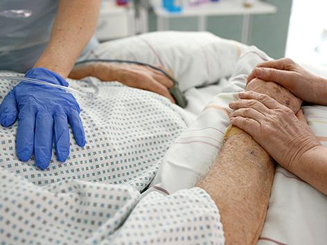 Patient auf der Intensivstation