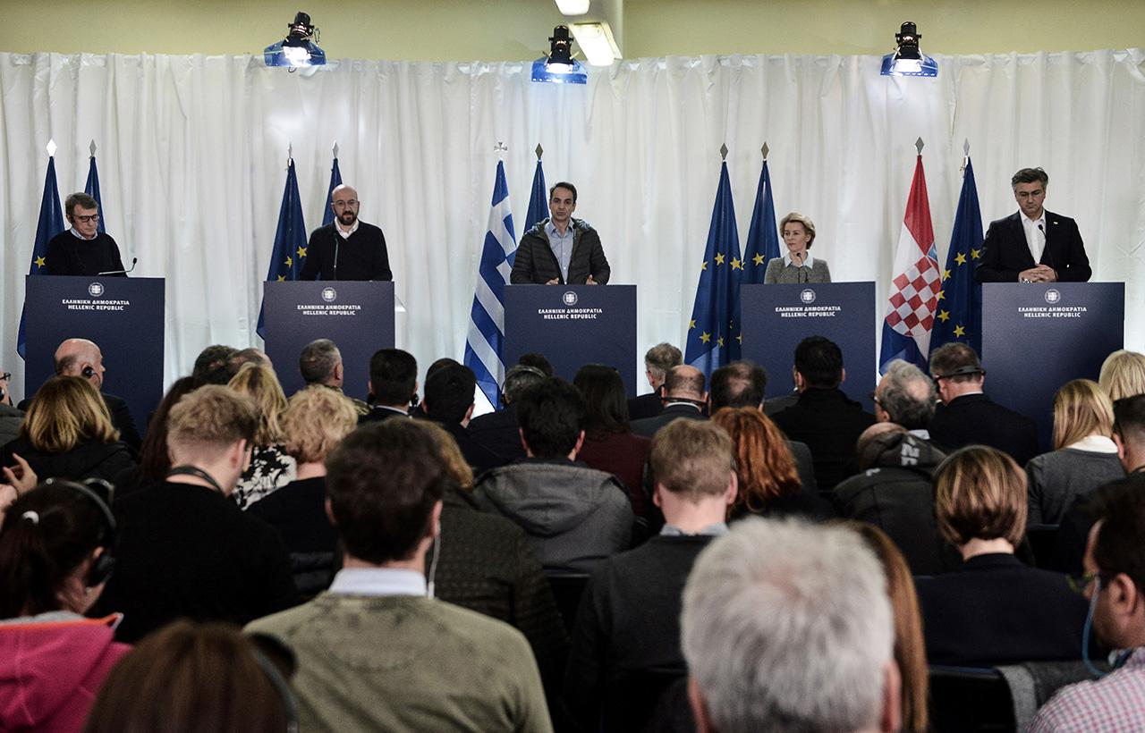 EU-PolitikerInnen und die griechische Regierungsspitze