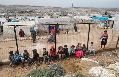 Kinder in Flüchtlingscamp