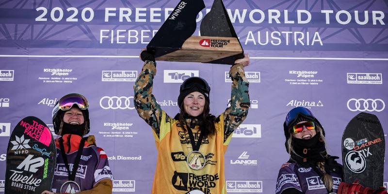 Siegerehrung Frauen Snowboard