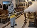 Desinfektion einer Kirche