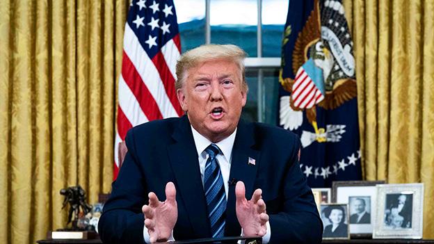 US Präsident Donald Trump Fernsehansprache