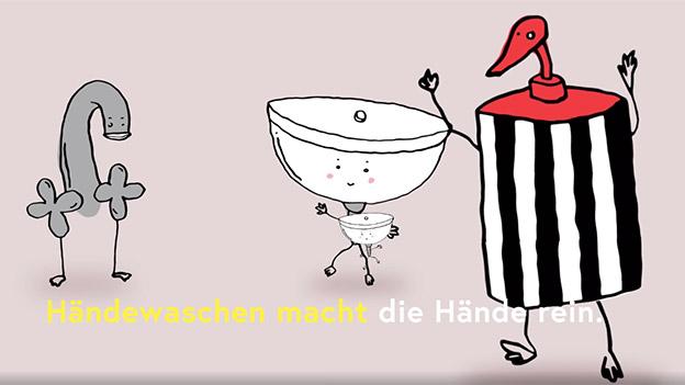 Screenshot aus dem Händewaschvideo
