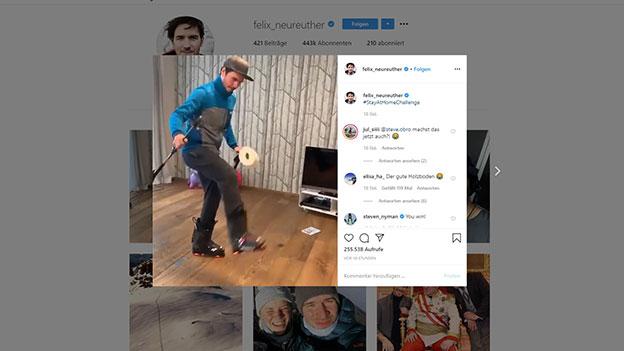 Felix Neureuthers Instagram Profil
