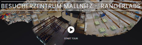 Virtueller Rundgang Besucherzentrum Mallnitz - rangerlabs