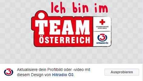 """""""Team Österreich""""-Profilbild-Rahmen"""
