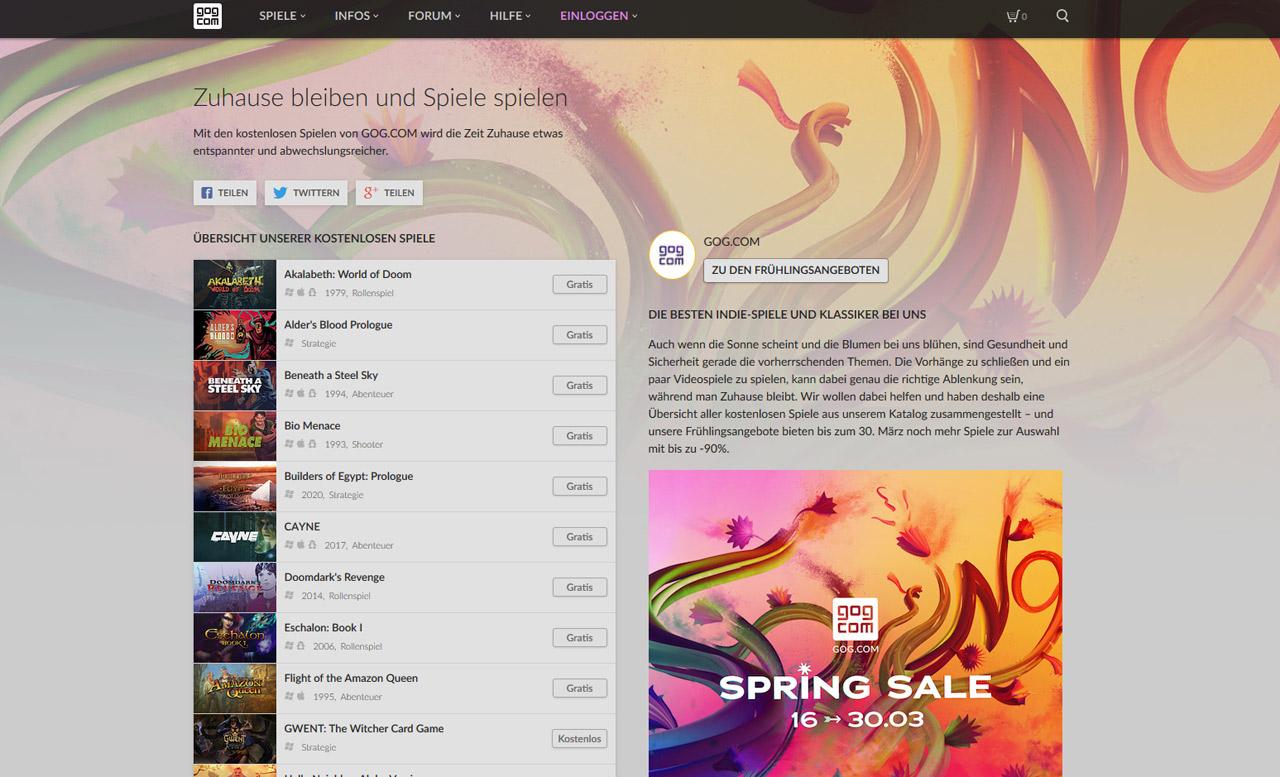 Screenshot gog.com