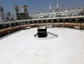 Der leere Platz um die Kaaba in Mekka