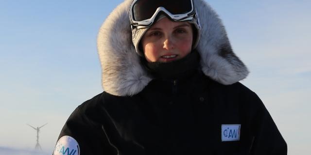 Klimaforscherin Elke Ludewig in der Antarktis