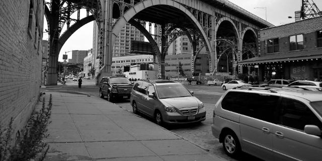 Straße in Harlem, New York City