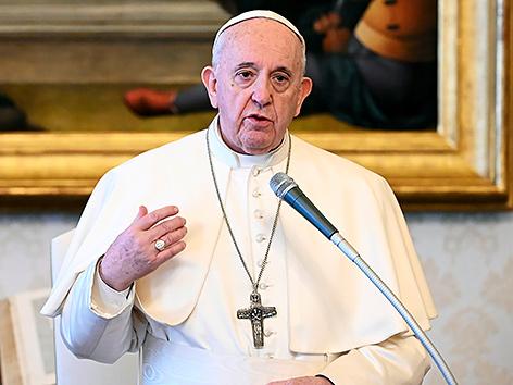 Papst Franziskus bei der Generalaudienz