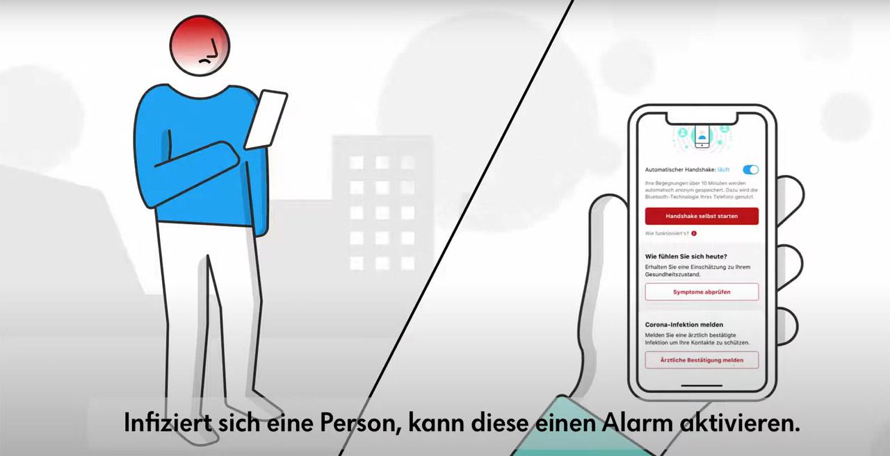 Youtube-Screenshot Stopp Corona App