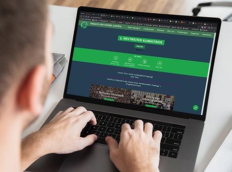 Laptop Klimastreik online