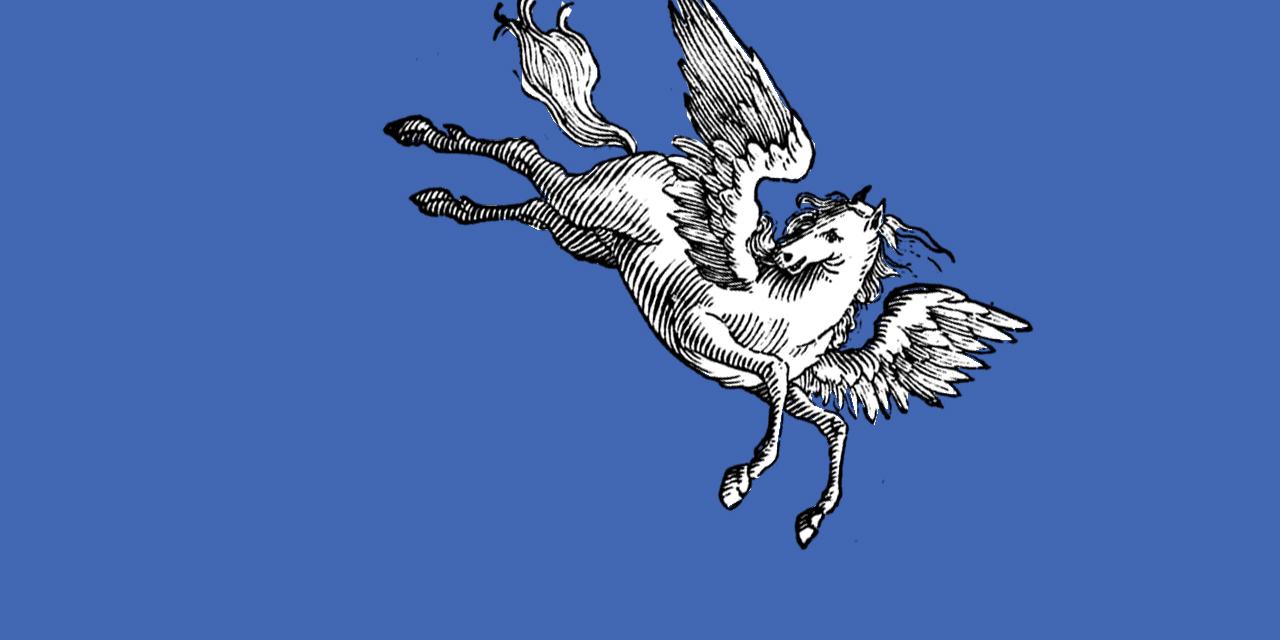 Abstürzender Pegasus