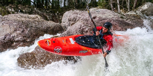 Andi Brunner im Kayak