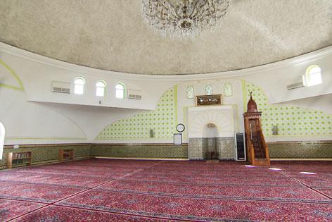 Leere Moschee in Wien - Islamisches Zentrum