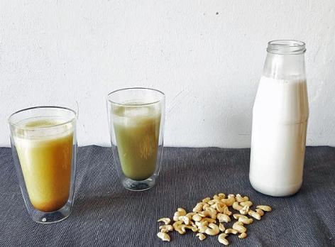 Haferdrinks,  Milch und Haferflocken