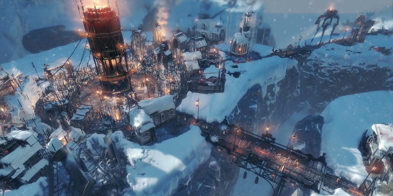 Screenshots des Spiels Frostpunk mit der Erweiterung Der letzte Herbst.