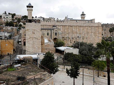Die Ibrahimi-Moschee in Hebron nahe den Patriarchengräbern