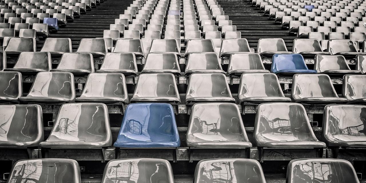 Reihen im Stadion