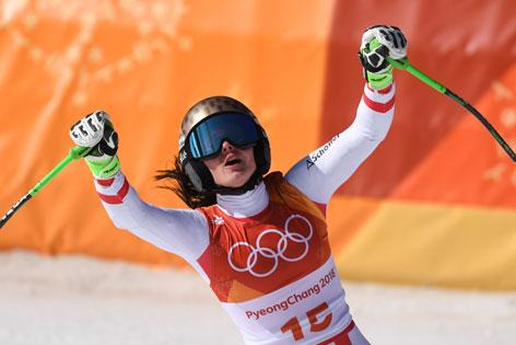 Anna Veith bei den Olympischen Spielen in Peyongchang 2018