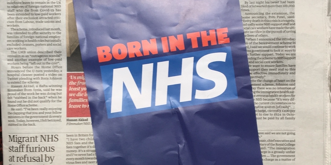 Born in the NHS Flugblatt