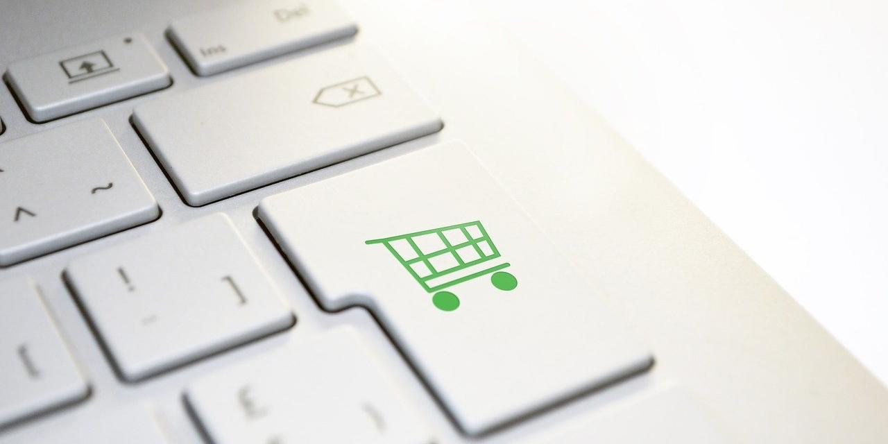 """Laptop Tastatur mit einer """"Shopping"""" Taste statt """"Enter"""""""