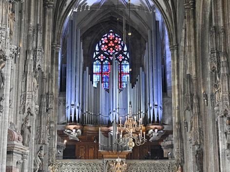 Die neu renovierte Orgel im Stephansdom