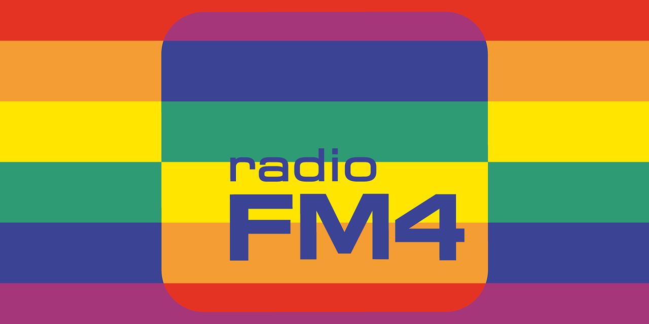 Radio FM4 in Pride-Farben