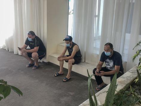 Eid al-Fitr vor einem tunesischen Hotel