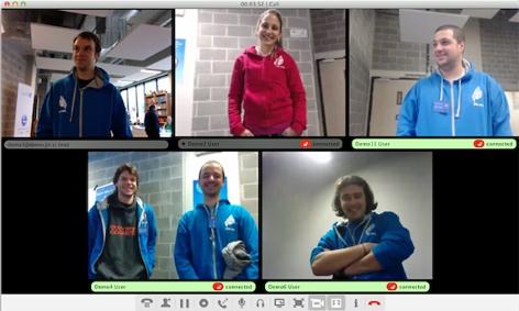 Videochat bei der Open-Source-Software Jitsi