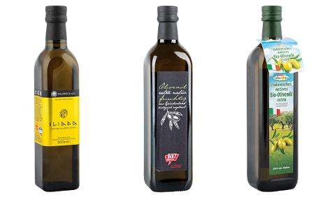 Kombo von Olivenöl der Marken Iliada, Ja!Natürlich und Spar Natur pur