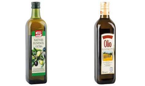 Kombo von Olivenöl der Marken  S-Budget und Castello