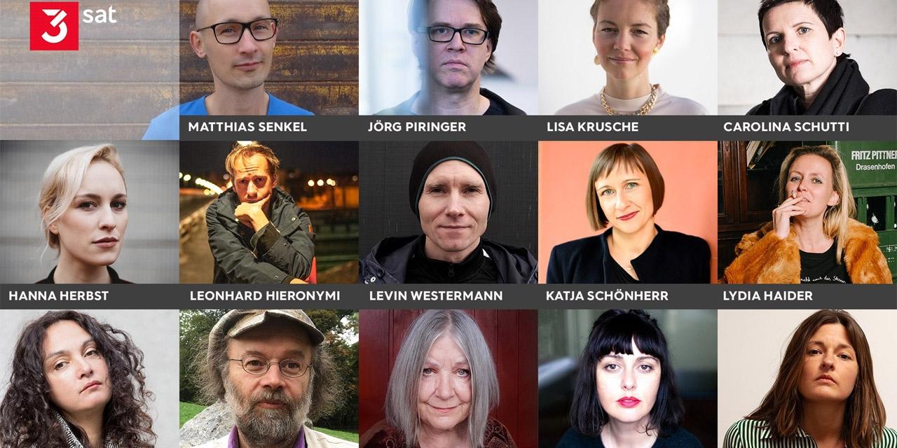 Porträts aller Lesenden beim Bachmannpreis 2020