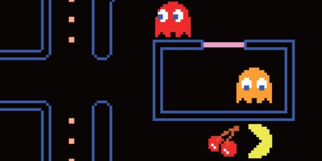 "Bildschirmfoto aus dem originalen ""Pac-Man"""