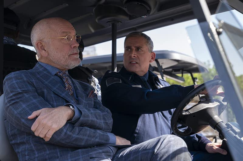 John Malkovich und Steve Carell in Space Force