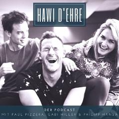"""Coverbild des """"Hawi D'Ehre""""-Podcasts von Gabi Hiller, Philipp Hansa und Paul Pizzera"""