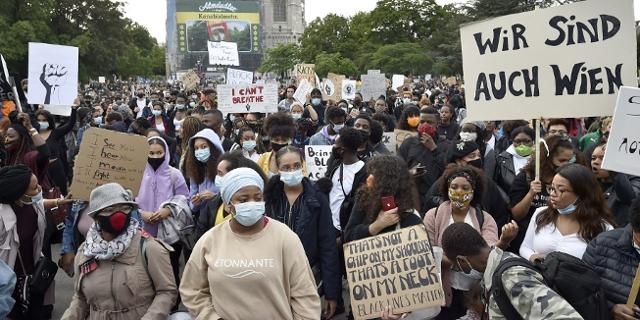 Bild von der Black Lives Matter Demo in Wien